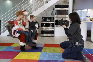 "Santa at Kenmore Live Studio during the taping of ""Santa's Sweet Sleigh Ride"